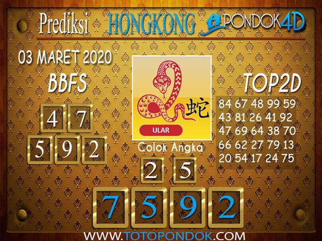 Prediksi Togel HONGKONG PONDOK4D 03 MARET 2020