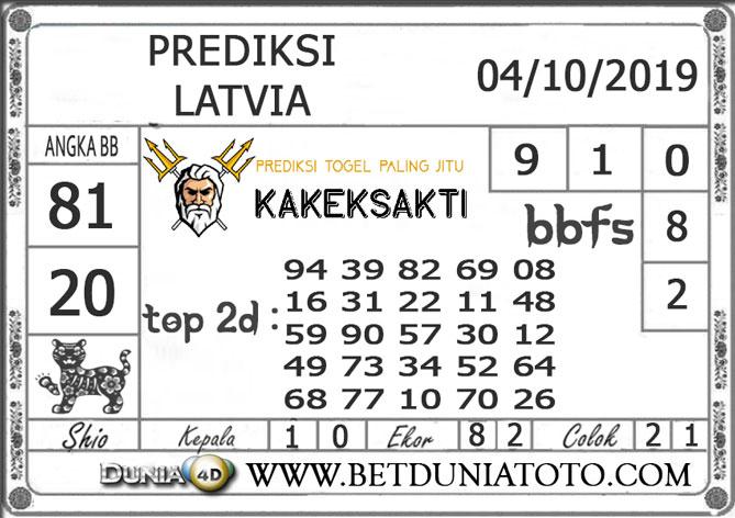 """Prediksi Togel """"LATVIA"""" DUNIA4D 04 OKTOBER 2019"""