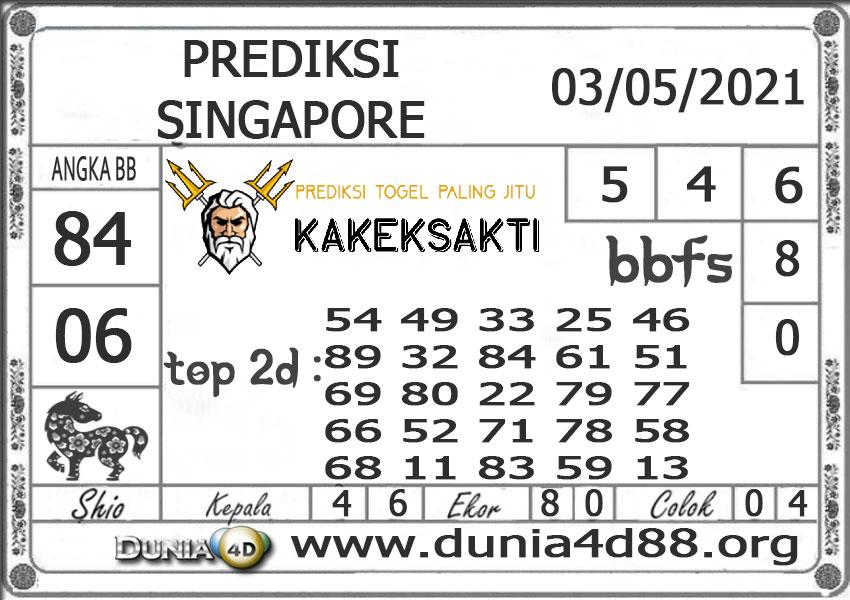 Prediksi Togel SINGAPORE DUNIA4D 03 MEI 2021