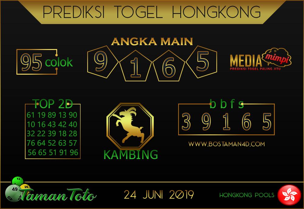 Prediksi Togel HONGKONG TAMAN TOTO 24 JUNI 2019