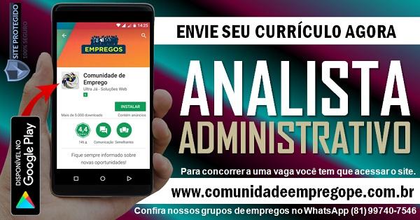 ANALISTA ADMINISTRATIVO COM SALÁRIO DE R$ 1500,00 PARA INDÚSTRIA