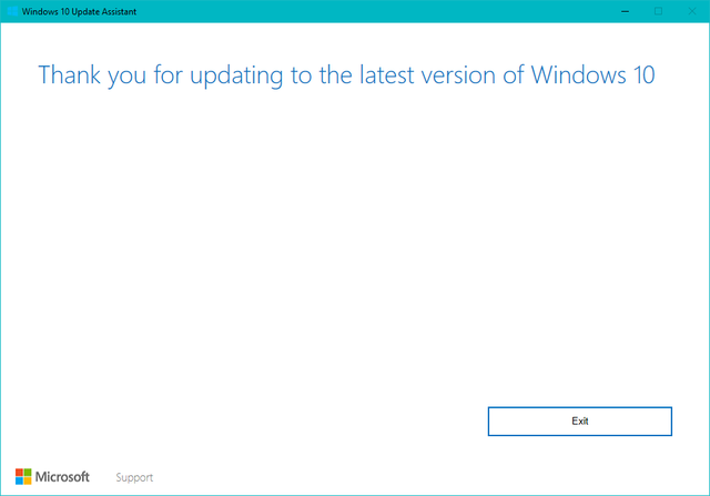 Force Update Windows10 Upgrade Exit