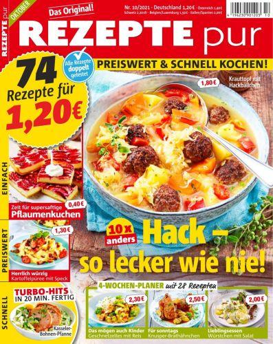 Cover: Rezepte Pur Magazin No 10 2021