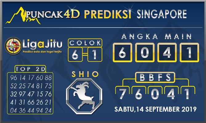 PREDIKSI TOGEL SINGAPORE PUNCAK4D 14 SEPTEMBER 2019