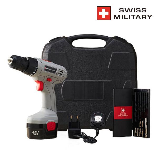 [코드번호:AR0095][WI MILITY] 스위스밀리터리 12V 충전식 전동드릴 (일반형)_M-...