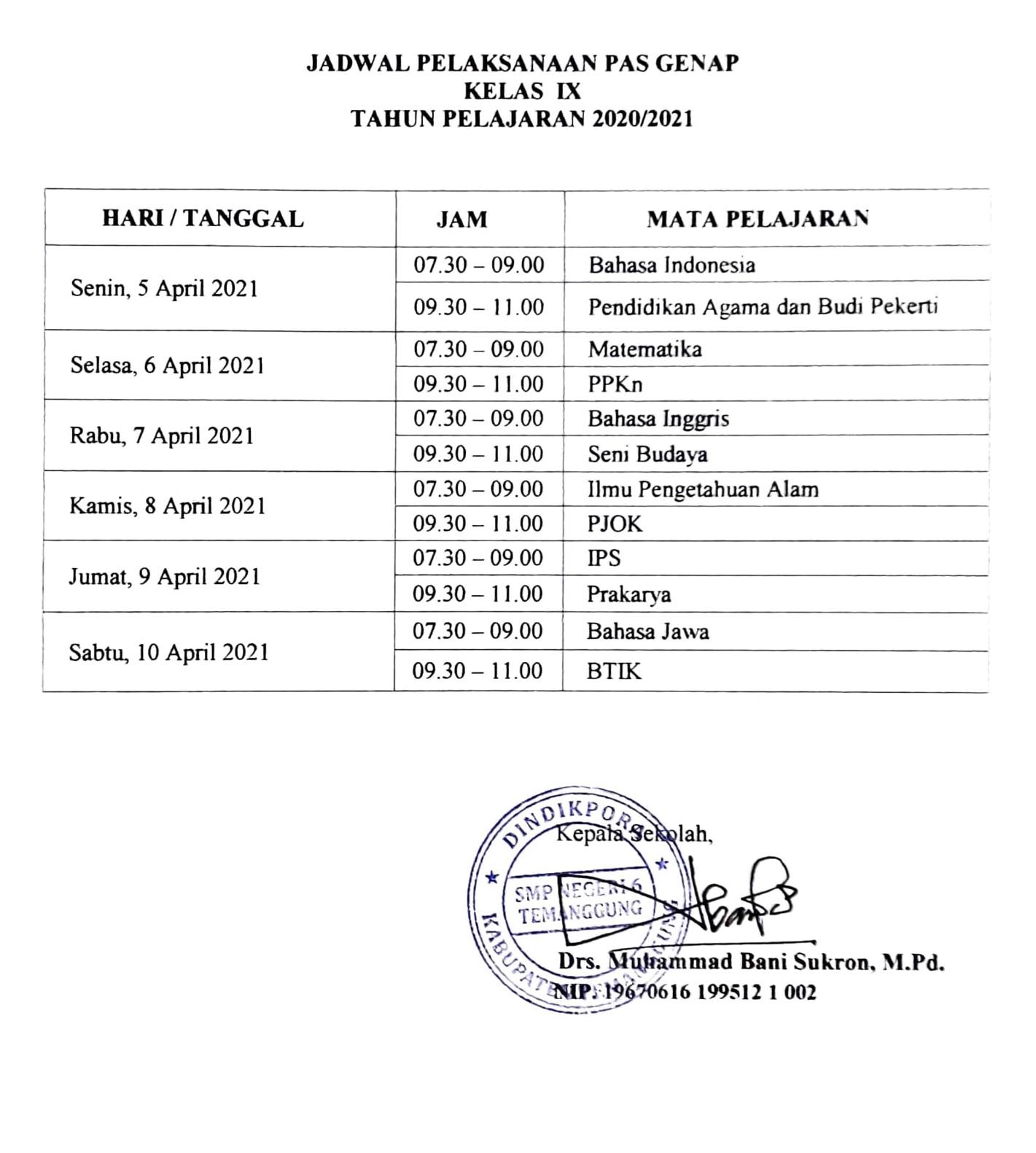 Pemberitahuan-Pelaksanaan-PAS-Genap-Kelas-IX-2