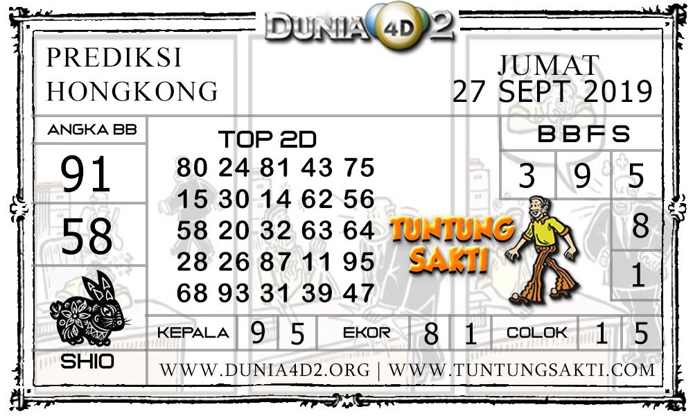 "Prediksi Togel ""HONGKONG"" DUNIA4D2 27 SEPTEMBER 2019"
