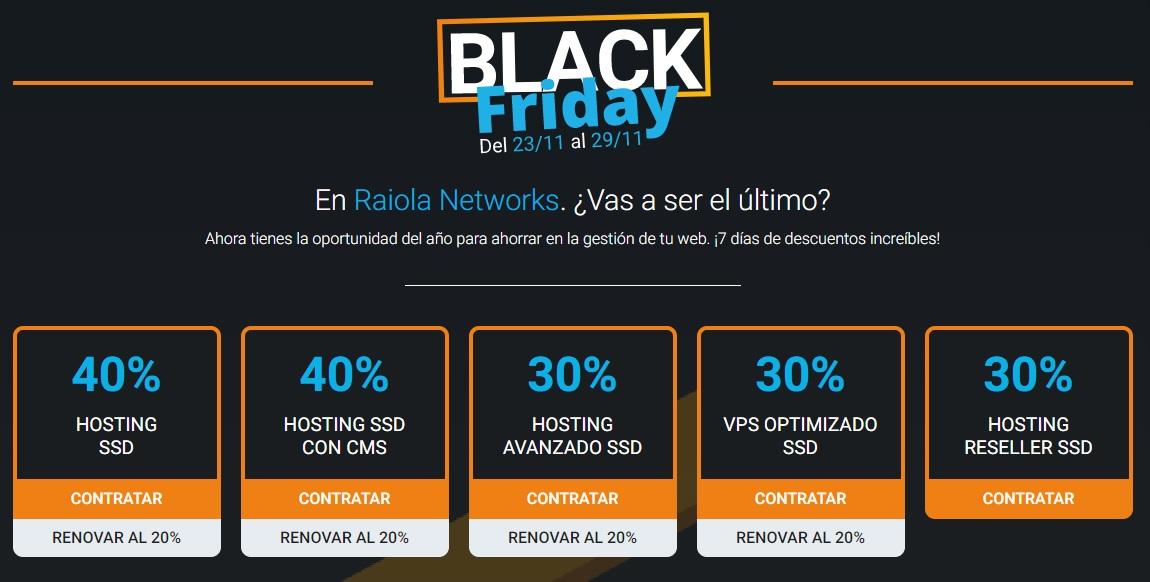 Cupon descuento raiola networks 40% black friday