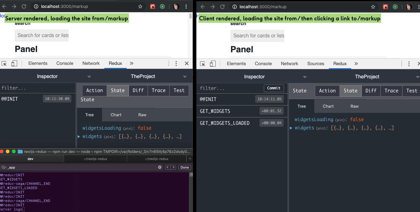 Client vs Server rendering