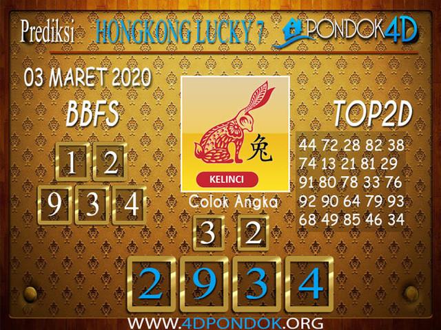 Prediksi Togel HONGKONG LUCKY 7 PONDOK4D 03 APRIL 2020
