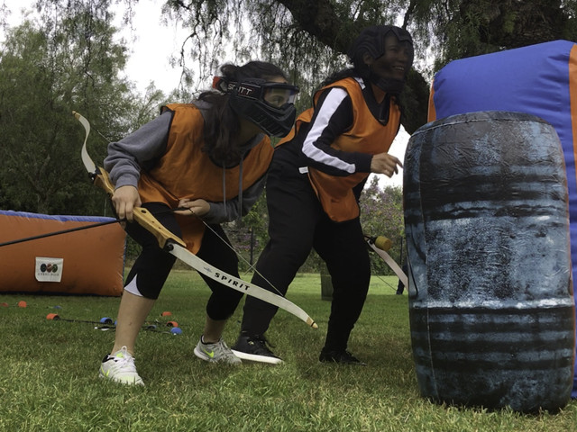 Action shot of our archery tag in West Los Angeles on April 26th