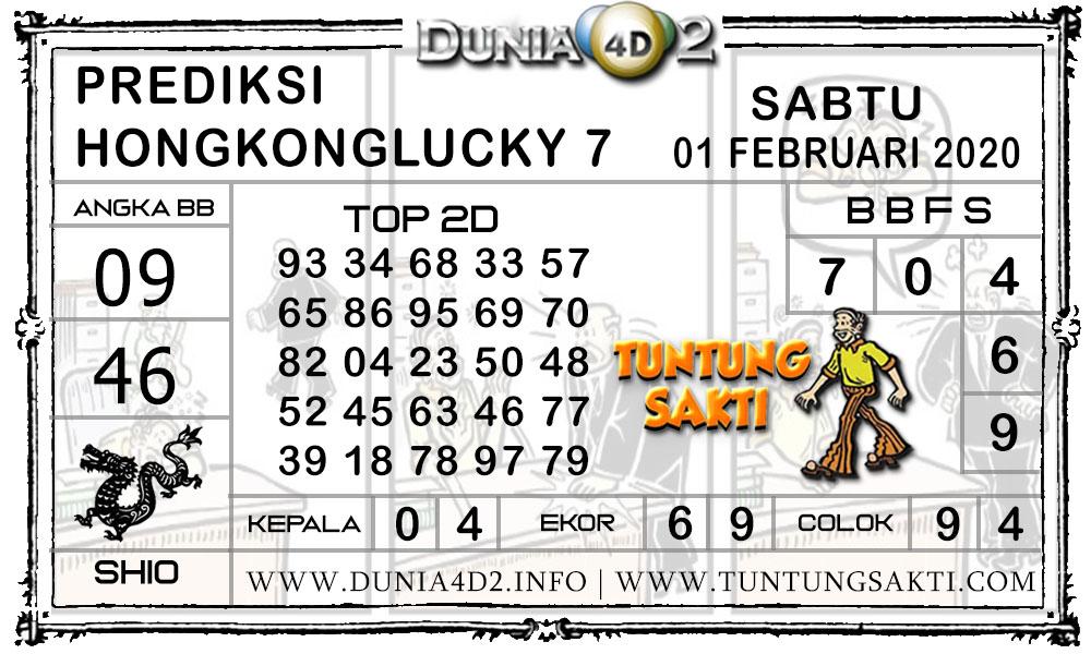 Prediksi Togel HONGKONG LUCKY7 DUNIA4D2 01 FEBRUARI 2020
