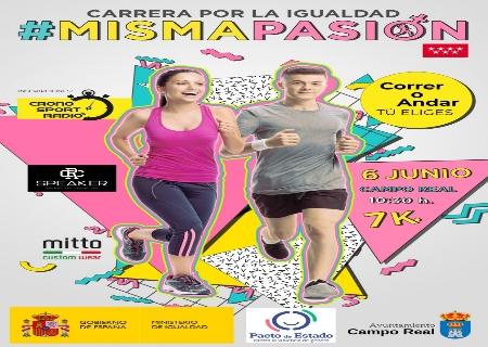 La 1ª Carrera por la igualdad se celebrará el 6 de Junio en Campo Real