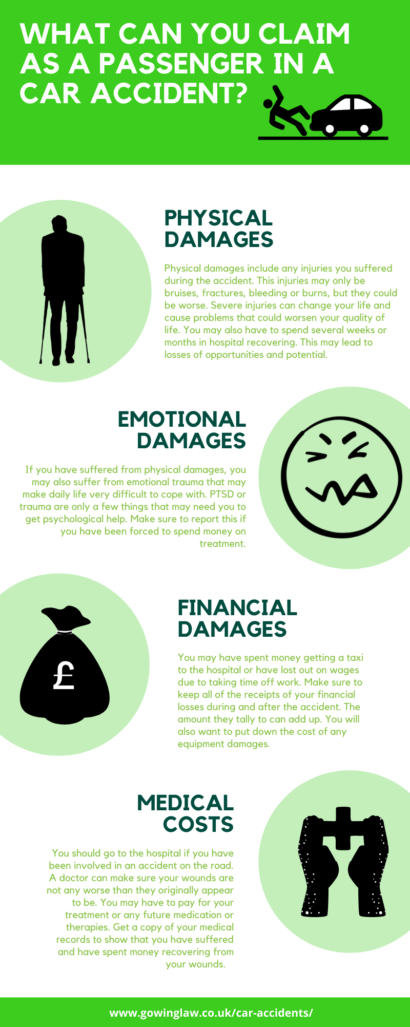 what can you claim as compensation infographic
