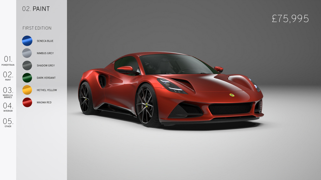 2021 - [Lotus] Emira - Page 2 Lotus-Emira-First-Edition-Configurator-Magma-Red-colour-choices