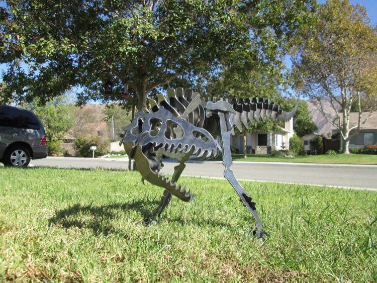 Allosaurus 3D metal Garden art puzzle 2