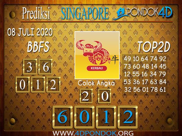 Prediksi Togel SINGAPORE PONDOK4D 08 JULI 2020