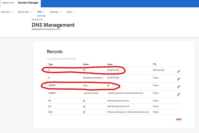 ebaykeywordsniperpro-website-DNS-Management