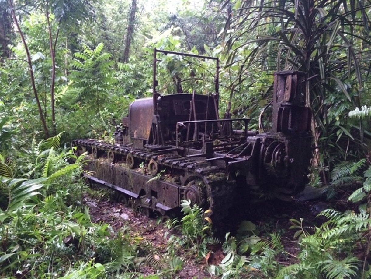 Perhaps local authorities will restore this tractor and install it in a local museum.