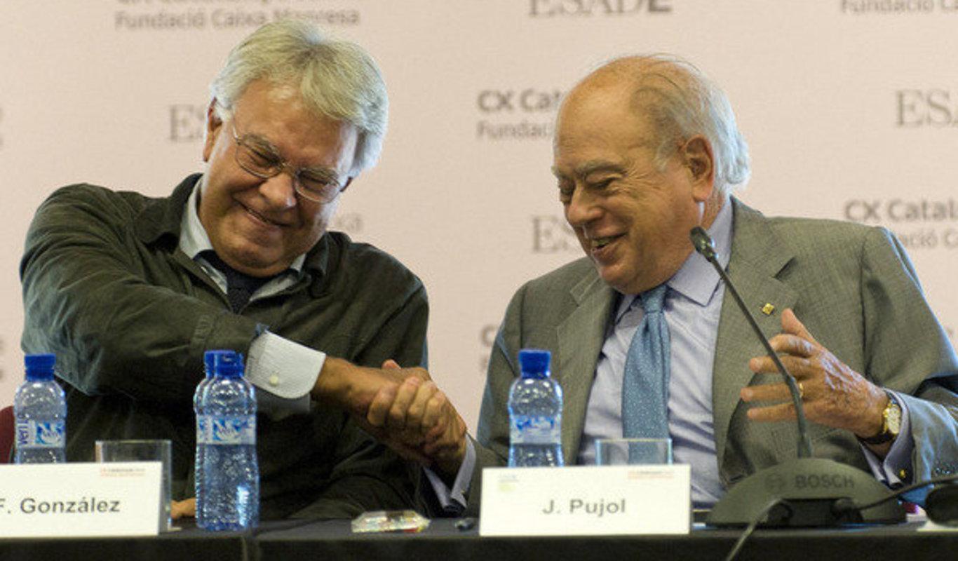 Felipe González no se cree que Jordi Pujol haya escondido dinero en Andorra