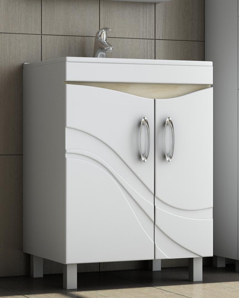 Шкаф -тумба Mirella-60 + умывальник Калипсо 60