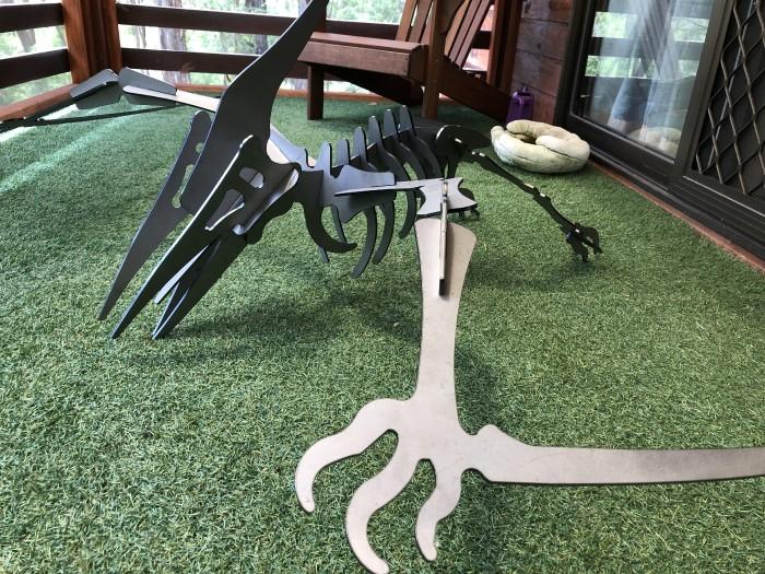 pterodactyl dinosaur LASER CUT STEEL GARDEN ART 6