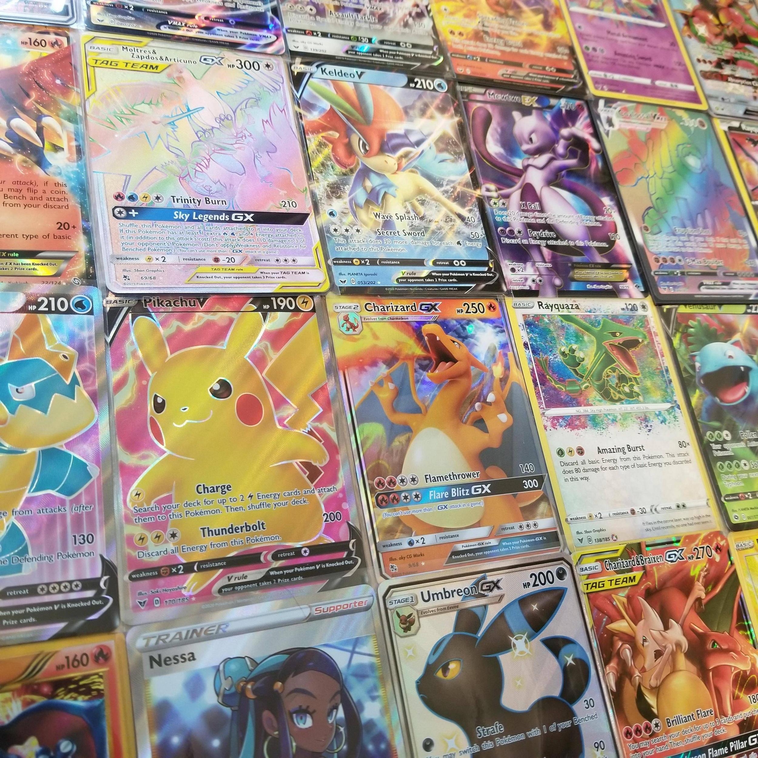 POKEMON TRADING CARD GX 5 CARD LOT ALL ULTRA RARE OR FULL ART FAST SHIPPING