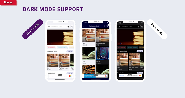 ios ebook app swift 4 + admin panel Granth lightdark