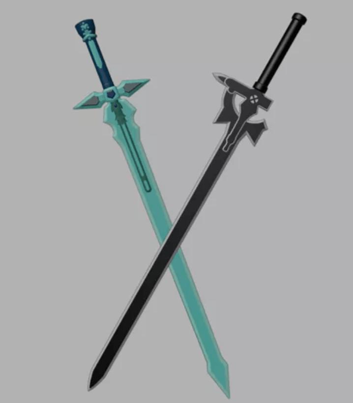 Kirito Sword Set From Sword Art Online