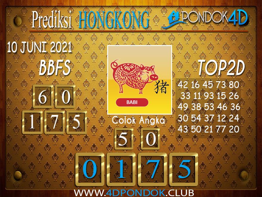 Prediksi Togel HONGKONG PONDOK4D 10 JUNI 2021