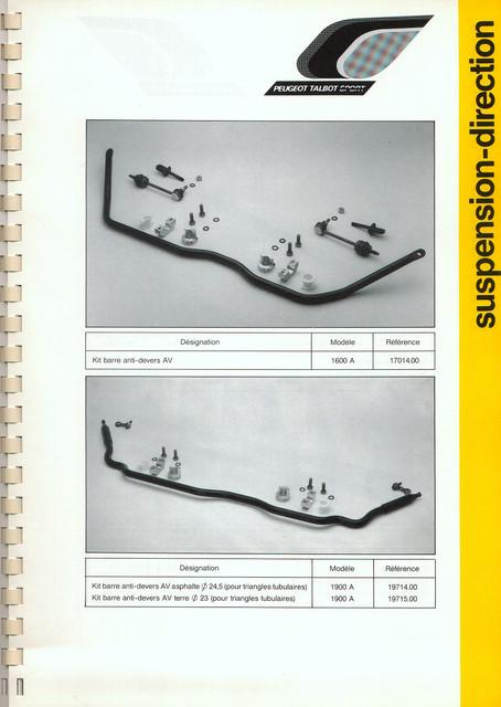 Catalogue PTS pièces compétition - 205 GTI 1600-1900 gr. N/A PTS-Suspension-Direction-6