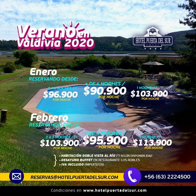 Promoción Verano en Valdivia 2020 Hotel Puerta del Sur