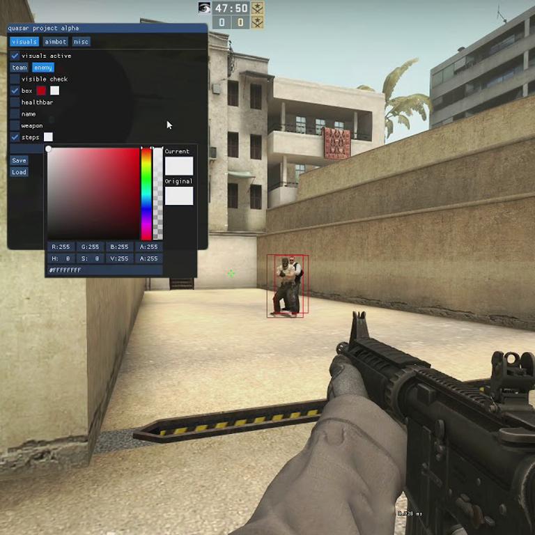 Чит на CS:GO Quasar - visuals, aimbot, misc