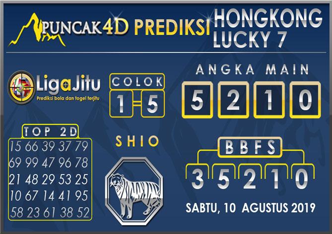 PREDIKSI TOGEL HONGKONG LUCKY7 PUNCAK4D 10 AGUSTUS 2019