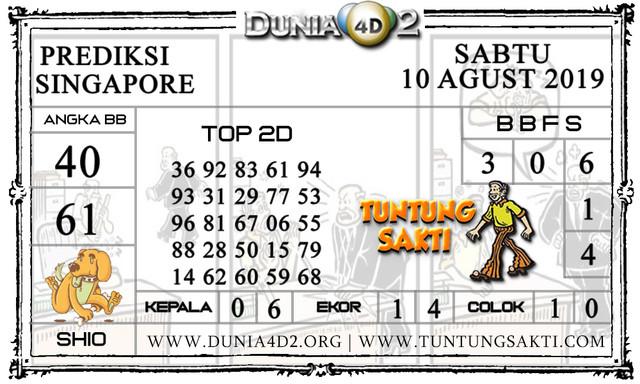 """Prediksi Togel """"SINGAPORE"""" DUNIA4D2 10 AGUSTUS 2019"""