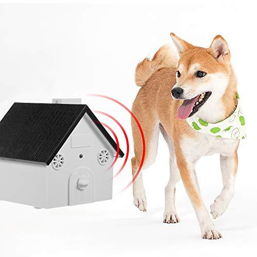 Fesjoy Perro Seguro para Mascotas Control de ladridos al Aire Libre Dispositivo de Sonido contra los ladridos Impermeable 4 Niveles Sonic Corteza Disuasor Perros Entrenamiento Control de