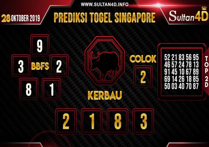 PREDIKSI TOGEL SINGAPORE SULTAN4D 28 OKTOBER 2019