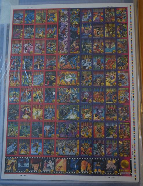 X-Men-Series-2-1993-Uncut-Sheet-1