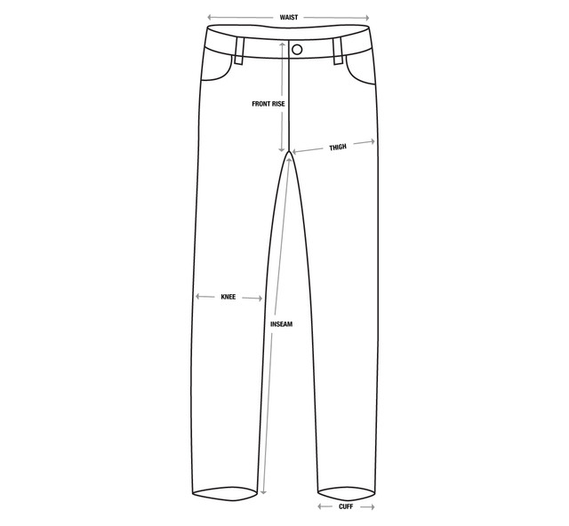 Pants-Size-Chart-Template