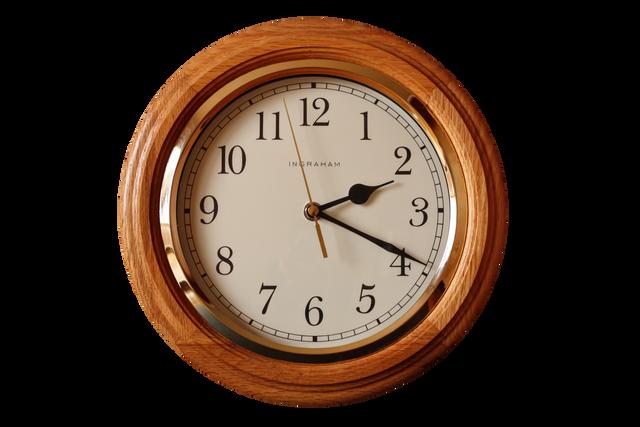 Wooden-Frame-Clock-PNG-Images-HD