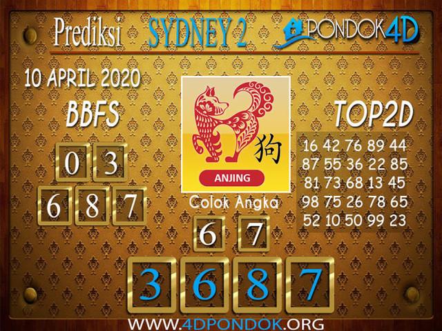 Prediksi Togel SYDNEY 2 PONDOK4D 10 APRIL 2020