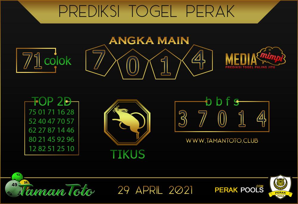 Prediksi Togel PERAK TAMAN TOTO 29 APRIL 2021