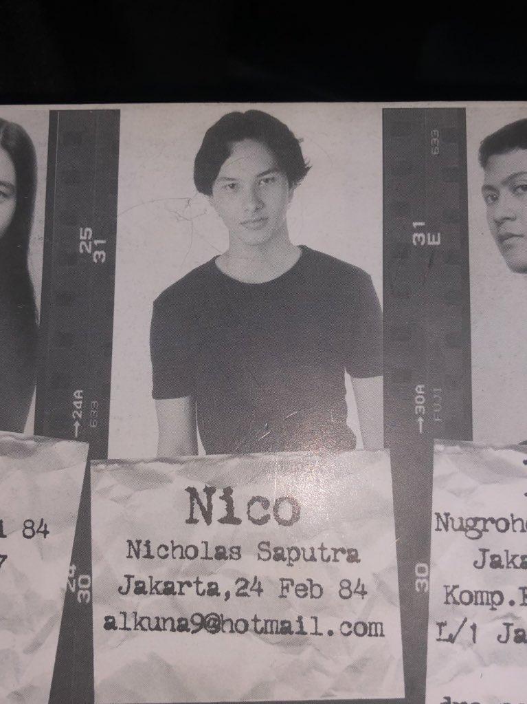 Potret lawas Nicholas Saputra di buku tahunan SMA.