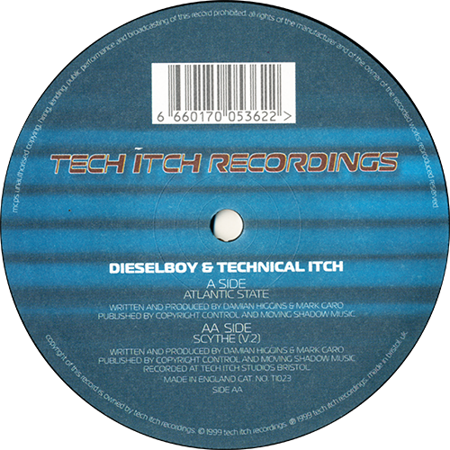 Dieselboy & Technical Itch - Atlantic State / Scythe (V.2) 1999