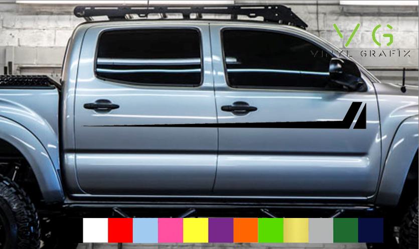 Toyota Tacoma Vinyl Decal Sticker Graphics TRD Sport Side Door x2