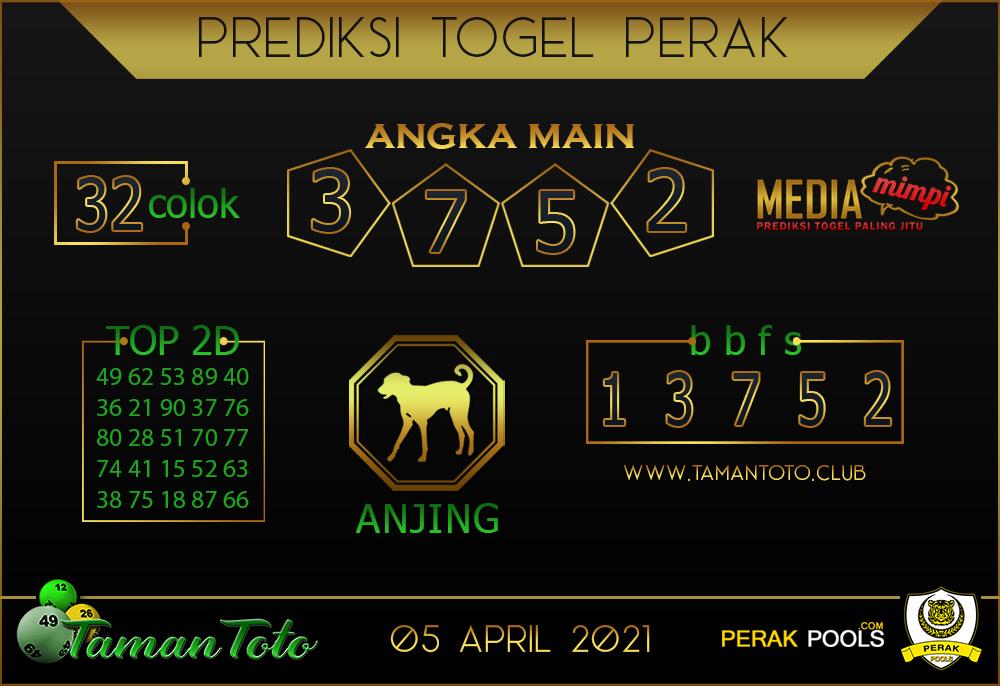 Prediksi Togel PERAK TAMAN TOTO 05 APRIL 2021