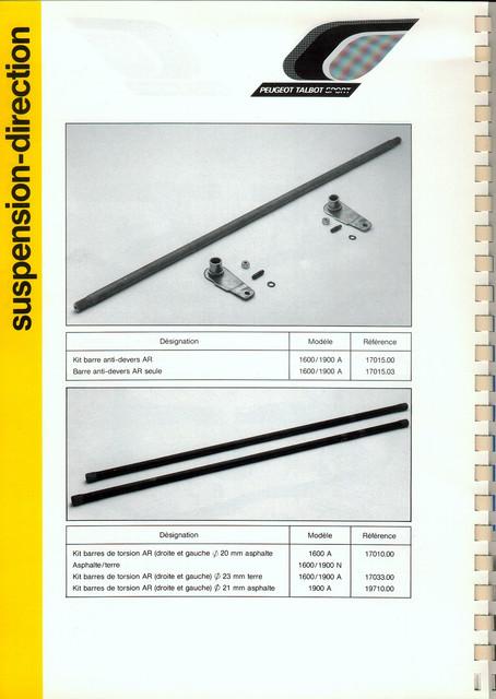 Catalogue PTS pièces compétition - 205 GTI 1600-1900 gr. N/A PTS-Suspension-Direction-7