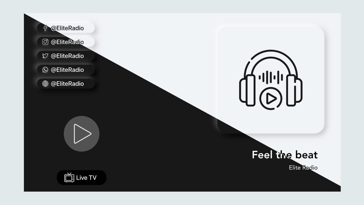 Elite Radio - Modern tvOS Radio App - 1
