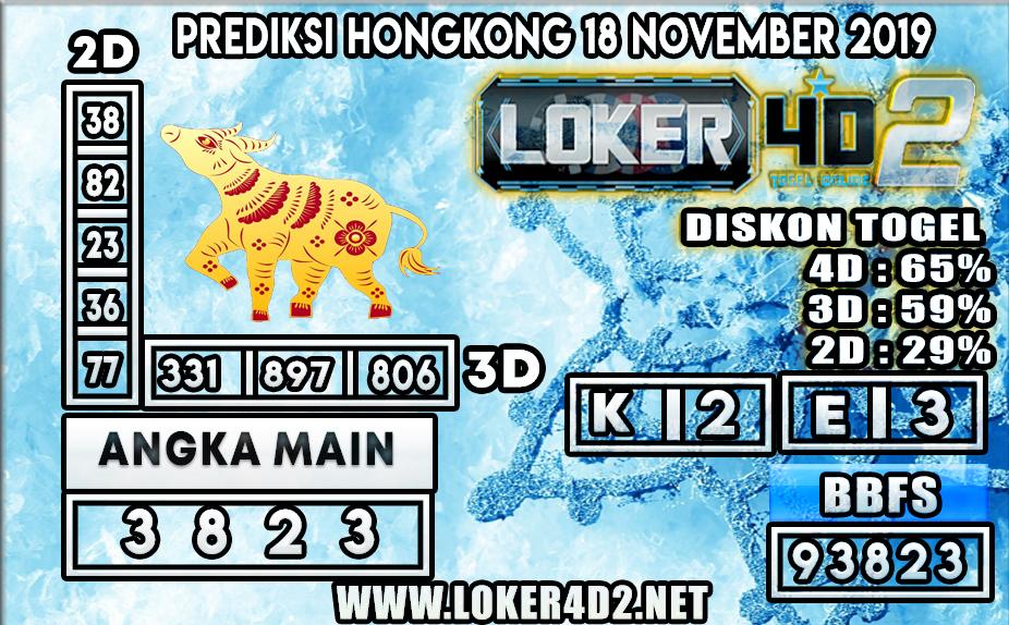PREDIKSI TOGEL HONGKONG POOLS LOKER4D2 18 NOVEMBER 2019