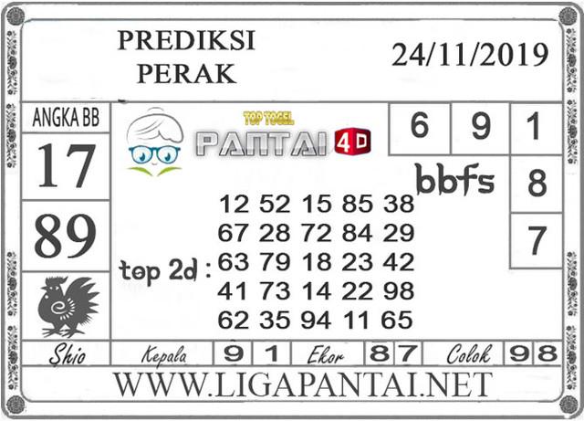 """PREDIKSI TOGEL """"PERAK"""" PANTAI4D 24 NOVEMBER 2019"""